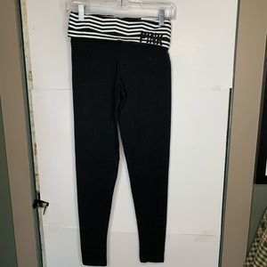 New Victorias Secret PINK Leggings XSmall Black